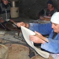lavash making in Armenia
