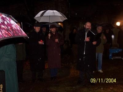 Gedenkveranstaltung zur Pogromnacht (Halle, 2004)