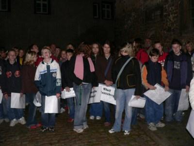 Gedenkveranstaltung zur Pogromnacht, (Naumburg 10.11.2005)