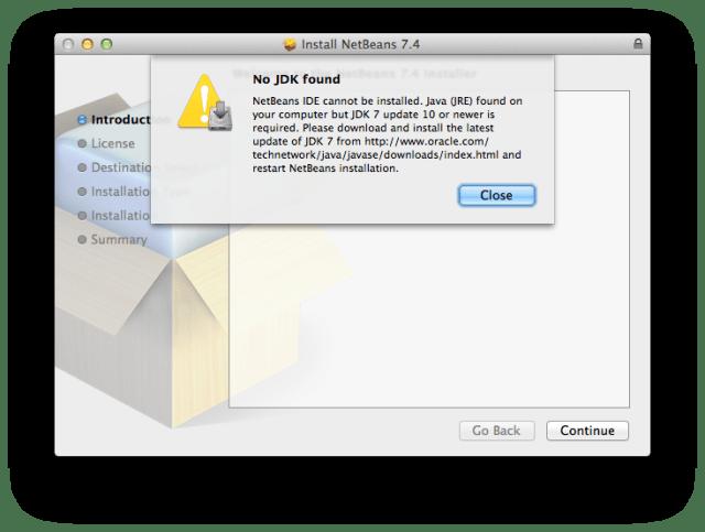NetBeans install - No JDK