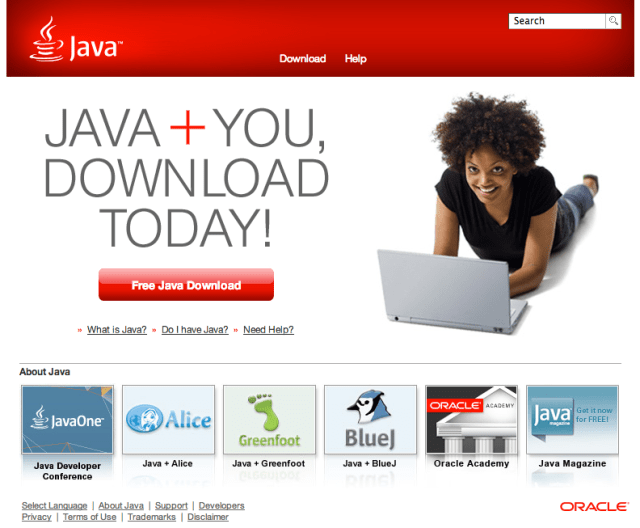Java.com who is this site for?