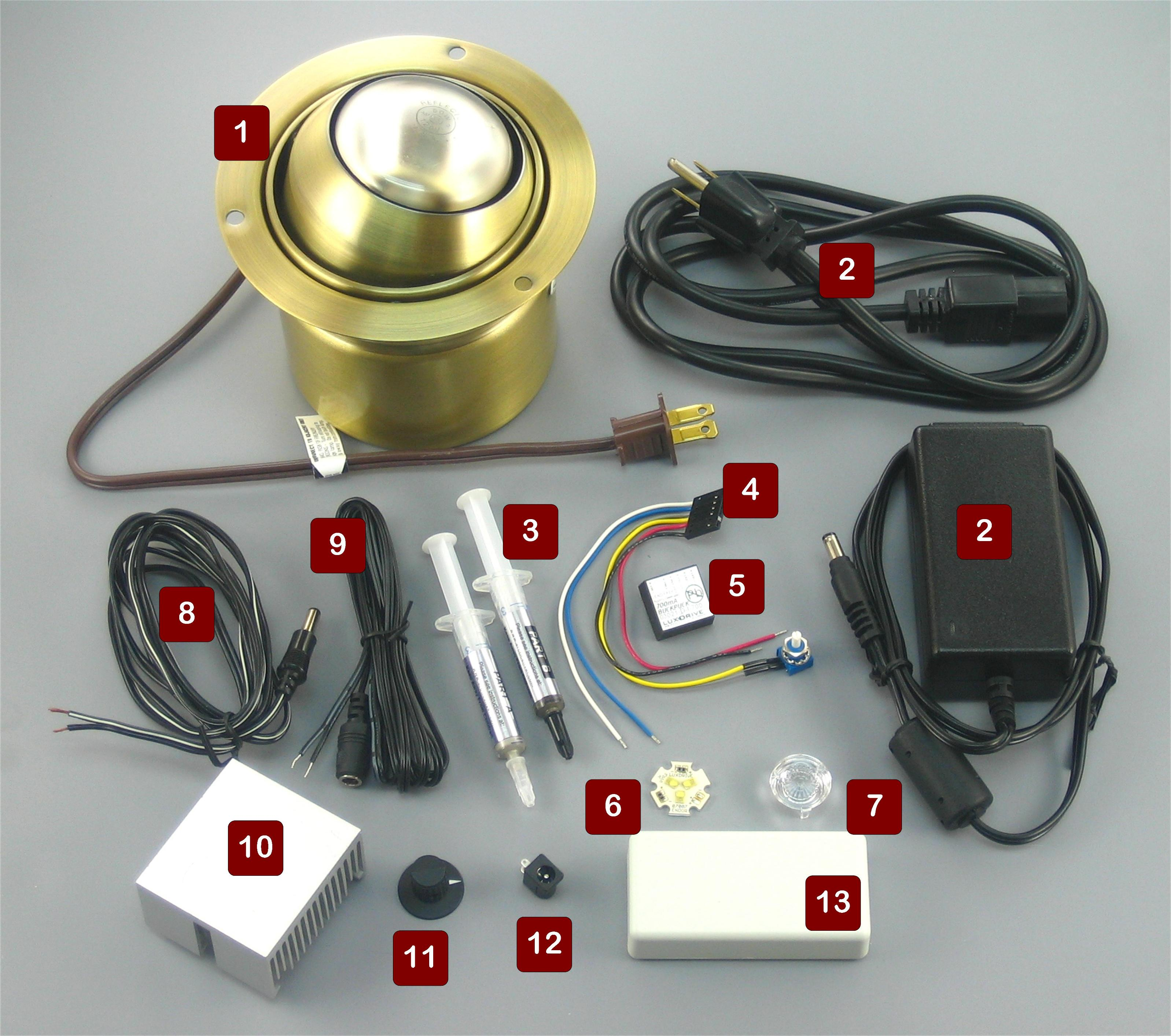 Led Light Fixture Parts
