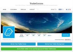Twitter Cover Pages