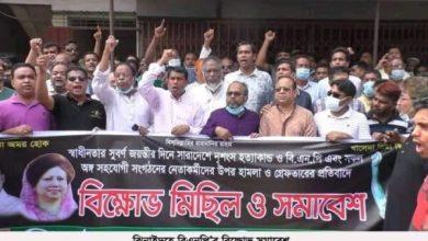 Photo of ঝিনাইদহ জেলা বিএনপি'র বিক্ষোভ সমাবেশ