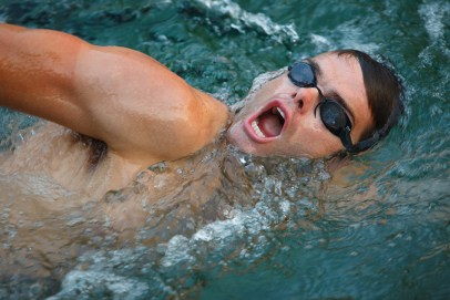 swimming Triathlete for the Bicycle Sport Shop