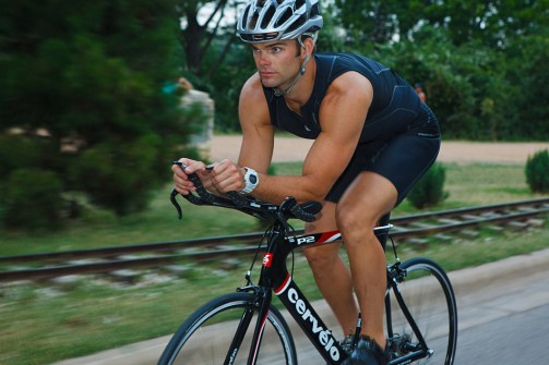 Male cyclist from photo-shoot of Triathletes for the Bicycle Sport Shop