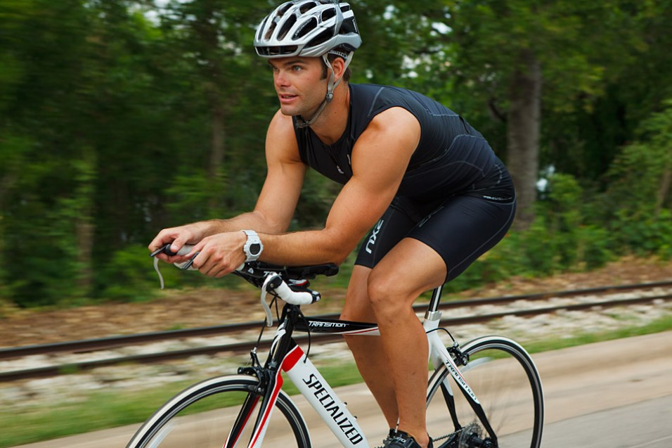 cyclist Triathlete for the Bicycle Sport Shop