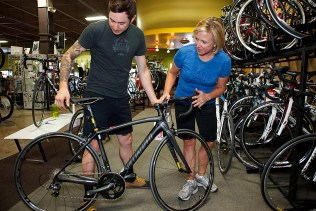 Advertising photography for the Bicycle Sport Shop
