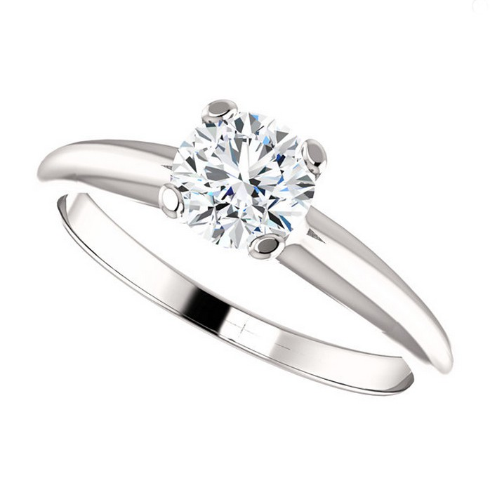 5.5mm Round Solitaire Top Angle 2