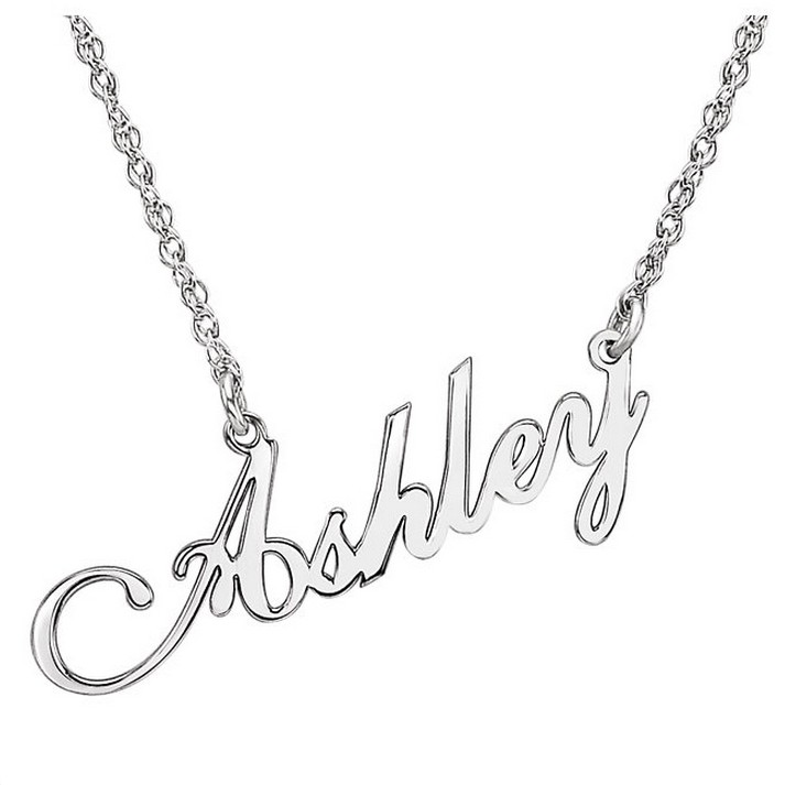 Modern Script Name Necklace