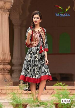tanuza fashion ethnic digital printed kurtis catalog