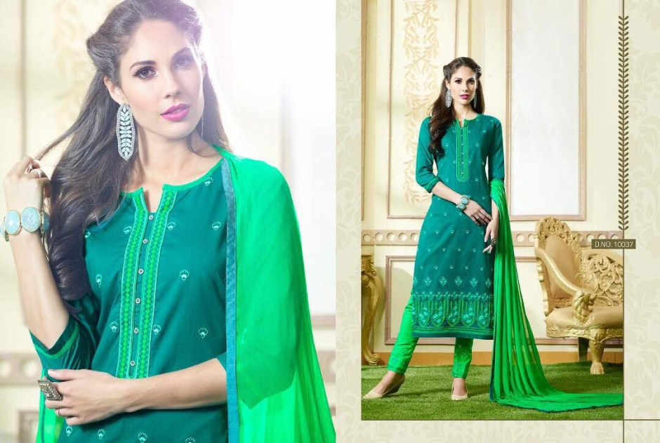 KALASTH SUNDRESS VOL 2 COTTON EMBROIDERED TOP & BOTTOM SUITS