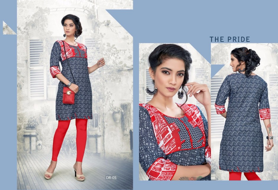swarnapankh denim red kurties collection at wholesale rate dealer