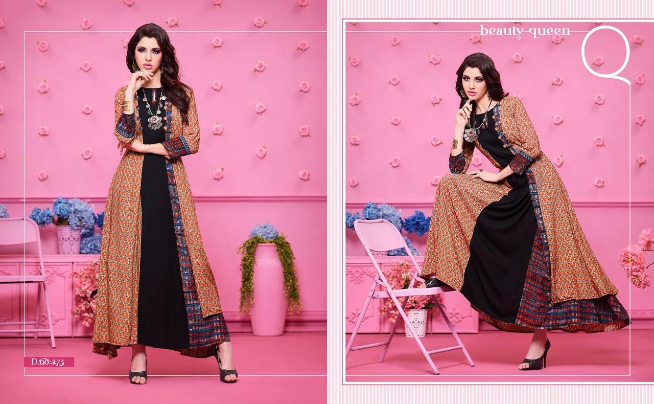 Kajree Fashion runway fancy gowns style Kurties catalog at Wholesale ...
