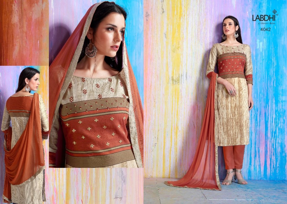 Labdhi mahiraa original jam satin salwar kameez collection wholesale price supplier