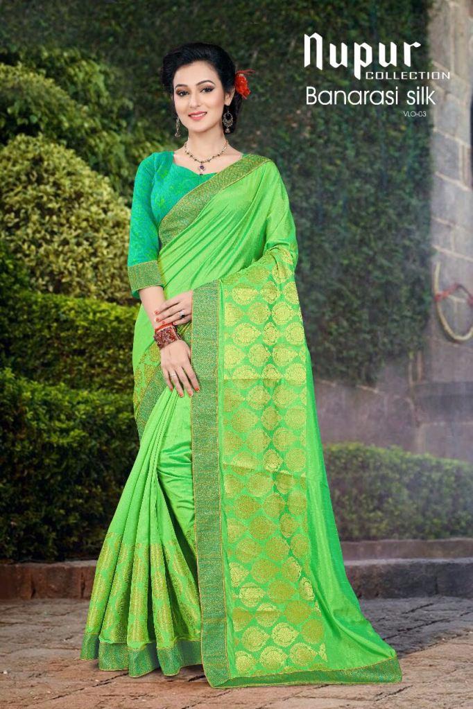 Nupur collection banarsi silk vol 3 sarees collection wholesale rate seller