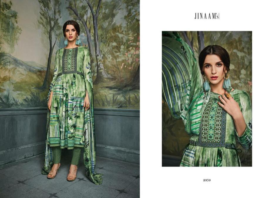 Jinaam dress amira digital printed salwar kameez catalog seller
