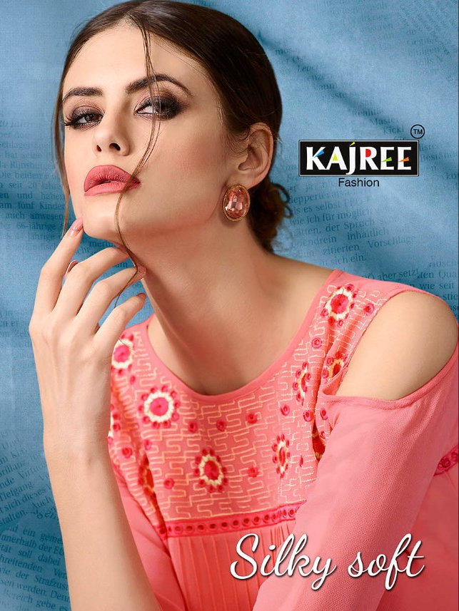 kajree fashion silky soft kurties collection at wholesale rate seller
