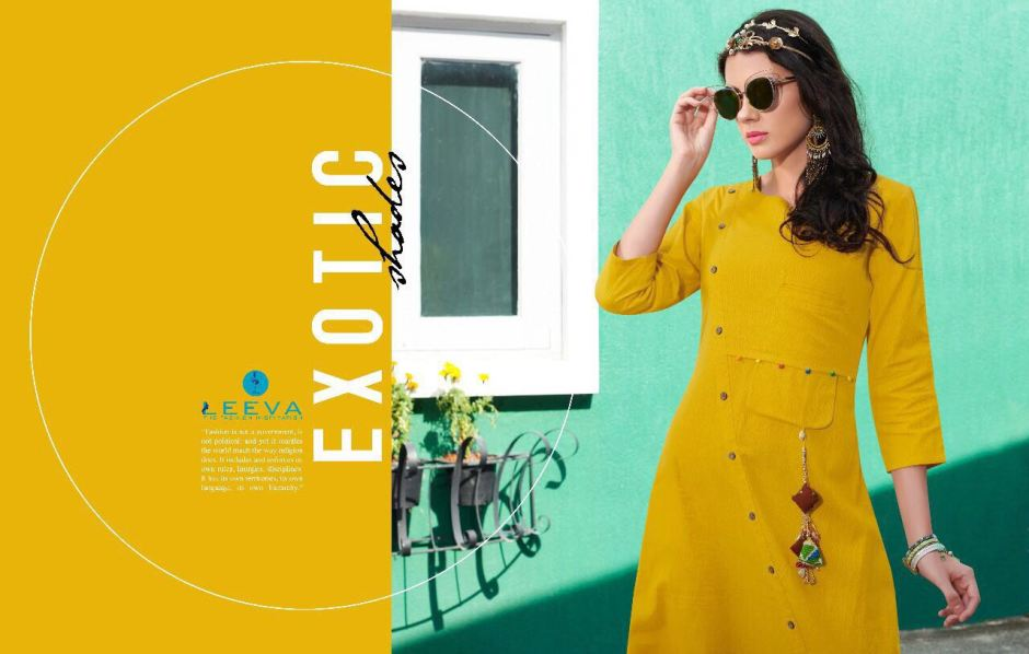 Leeva impress+ long wear style kurtis catalouge