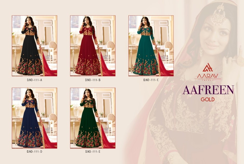 Aarav Trendz Afreen gold Lehanga collection