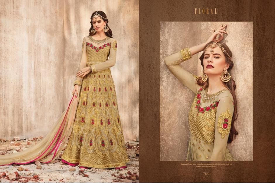 Jinaam floral elior fancy wear suits collection wholesaler