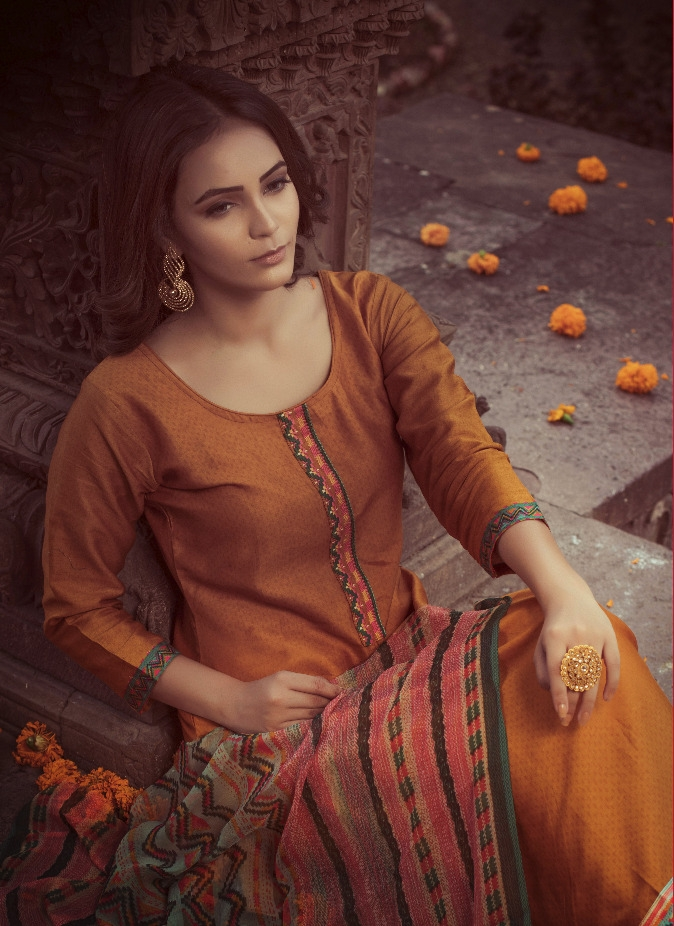 Rvee gold earth Salwar Kameez Collection
