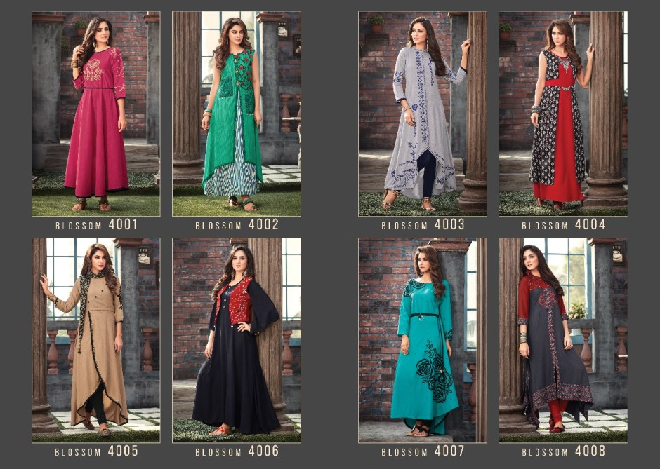 S4u by Shivali blossom vol 4 Kurties Catalog Supplier