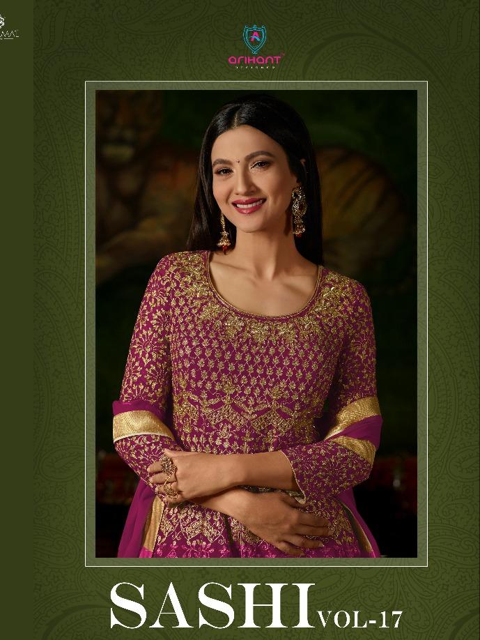 c50c2261cf Arihant designer sashi vol 17 heavy embroidered suits