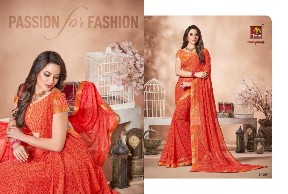 Priya pardhi launch ananya Vol 6 collection causal sarees