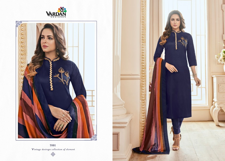 Vardan designer presents kavya vol 1 heavy jam cotton with designer suit