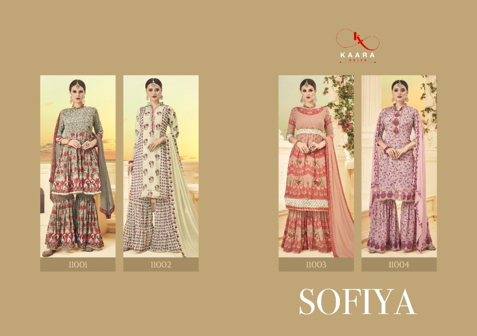 Karaa presents sofiya digital printed salwar kameez collection
