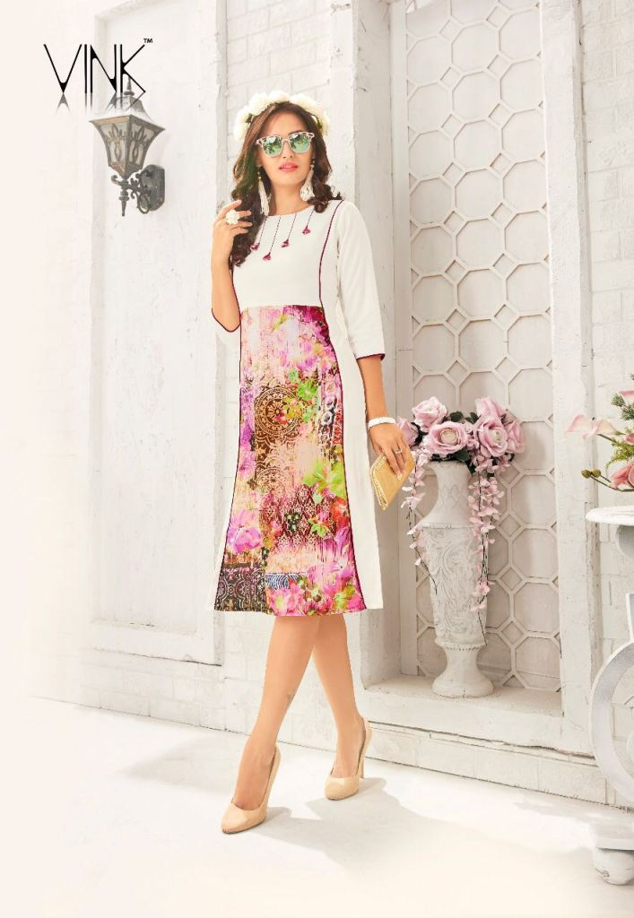 Melodies twist by vink launch summer wear fancy Beautiful collection of kurtis