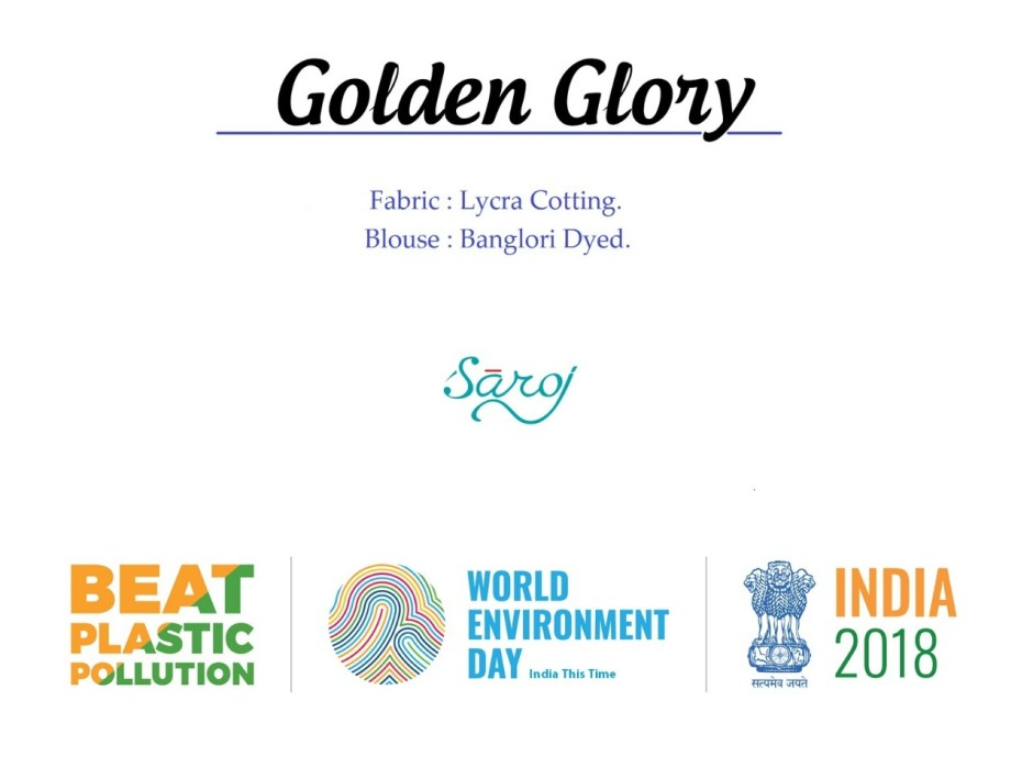 Saroj presents golden glory exclusive collection of sarees