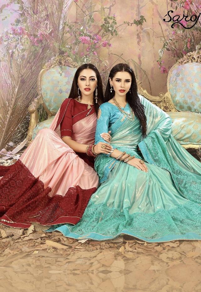 Saroj presents golden glory exclusive collection of sarees
