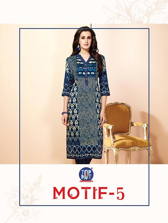 Top dot presenting motif 5 casual wear collection of kurtis