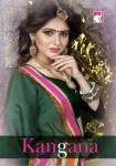 Dwarka nath silk mills presenrs kangana casual Wear sarees collection