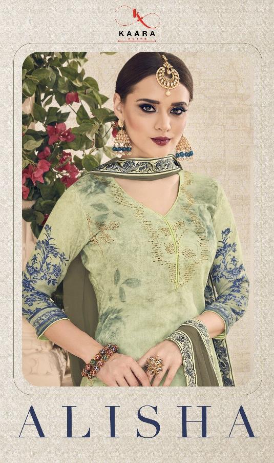Kaara suits presenting alisha exclusive pure muslin cotton wear salwar kameez concept