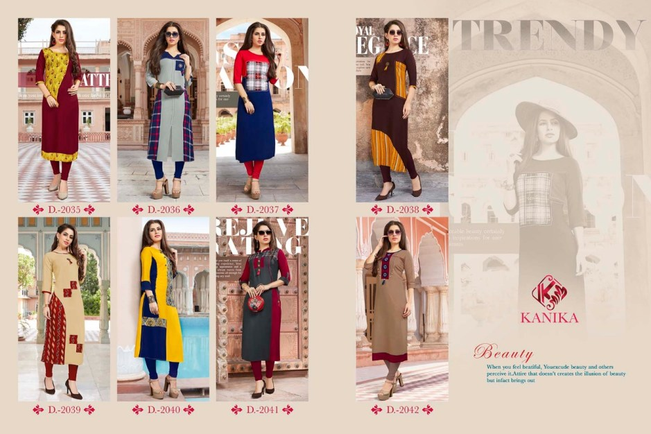 Kanika presents rich look vol 5 casual fancy collection of kurtis