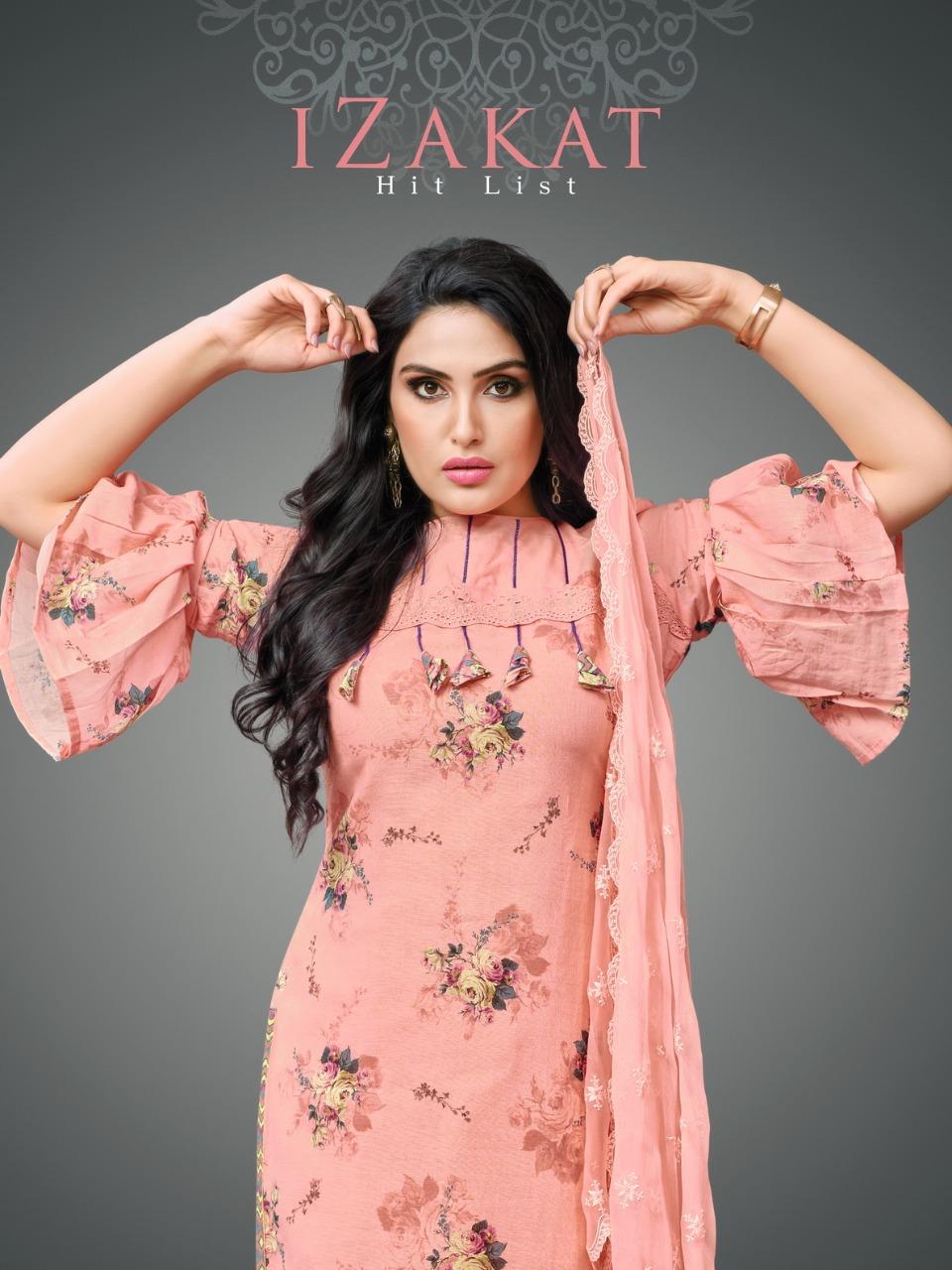Moof fashion presents izakat fancy casual wear salwar kameez collection