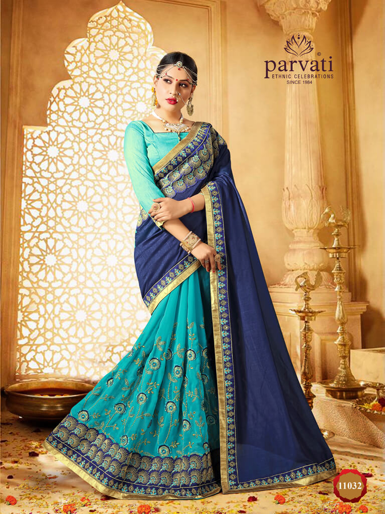 Parvati presents 11025 series Ethnic wear sarees collection