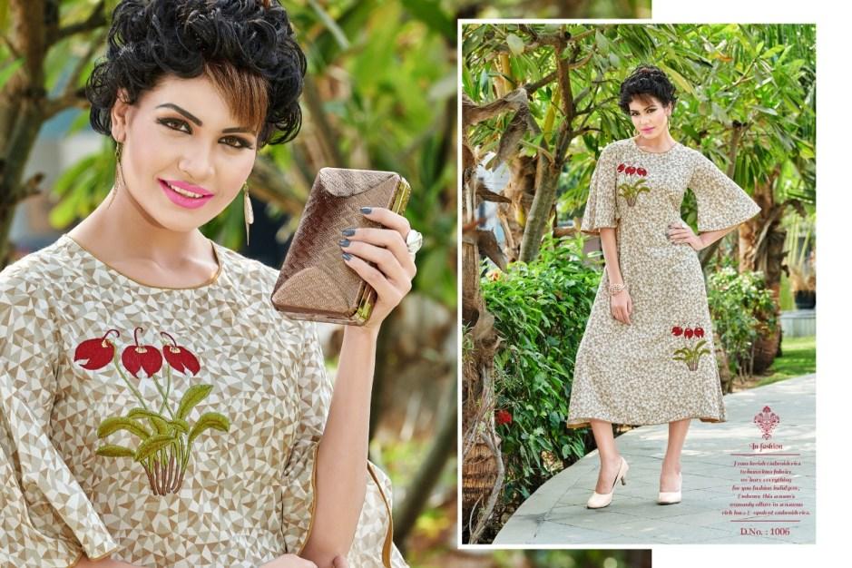 Poonam designer presents bIBA fancy trendy look kurtis concept