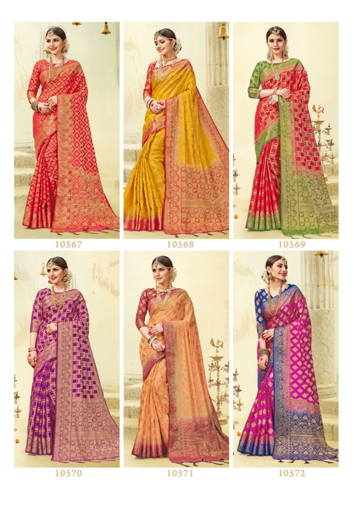 Shangrila presents sehnai silk stylish with traditional saress