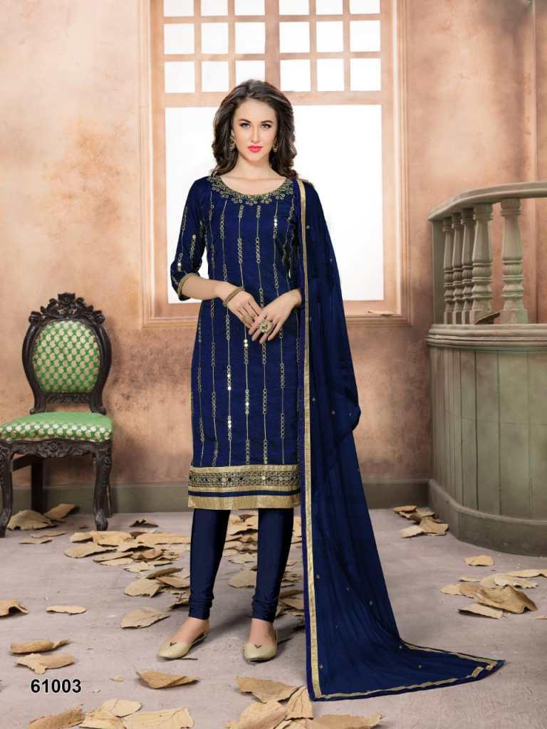 Aanaya presents series 61000 semi casual wear salwar kameez collection
