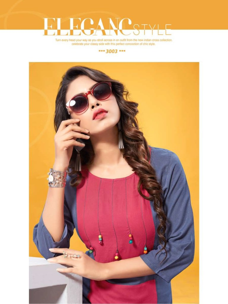 Amore presents vaarahi vol 3 casual ready to wear Kurtis concept