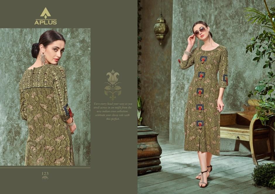APlus presents aafira fancy casual wear collection of Kurtis