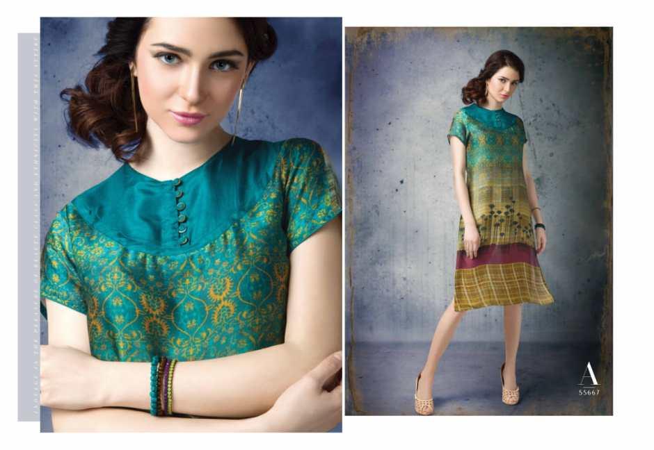 Arena fashion Presenting feminista crystal casual checks design kurtis concept