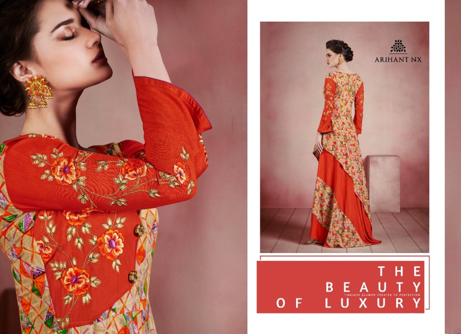 Arihant designer presenting karigari Stylish Look Gown style Concept