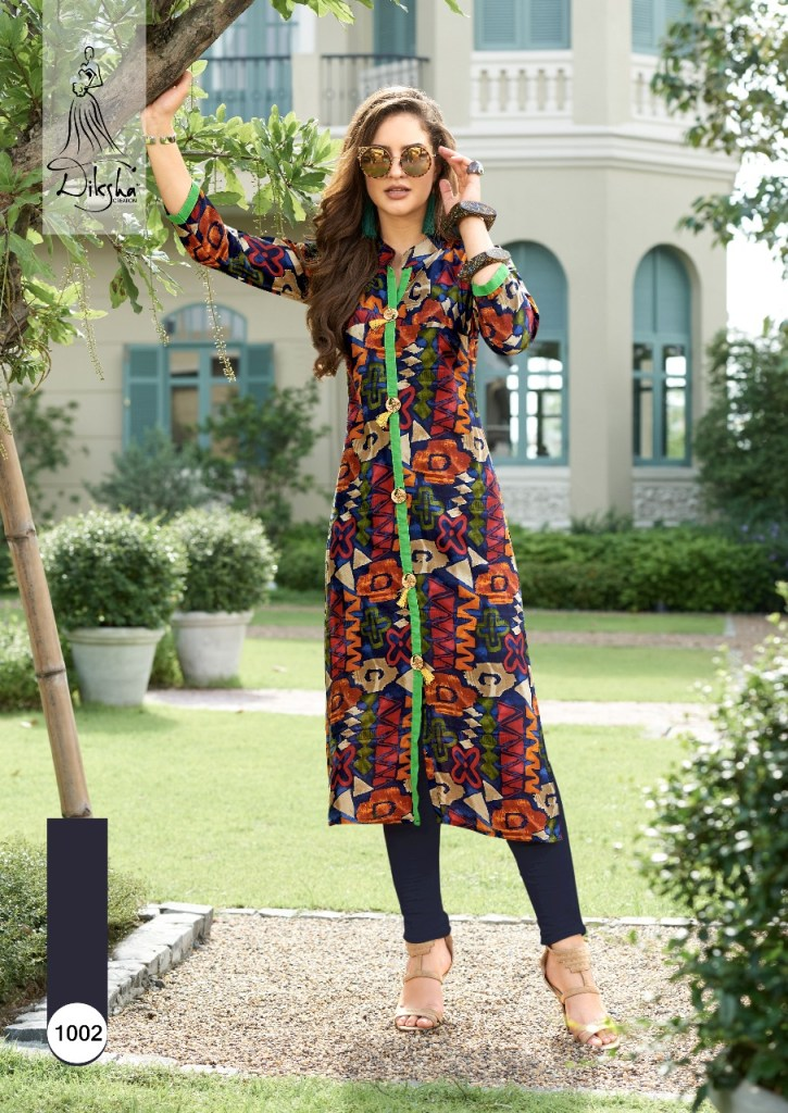 diksha fashion presents rich berry casual ready to wear beautiful kurtis concept