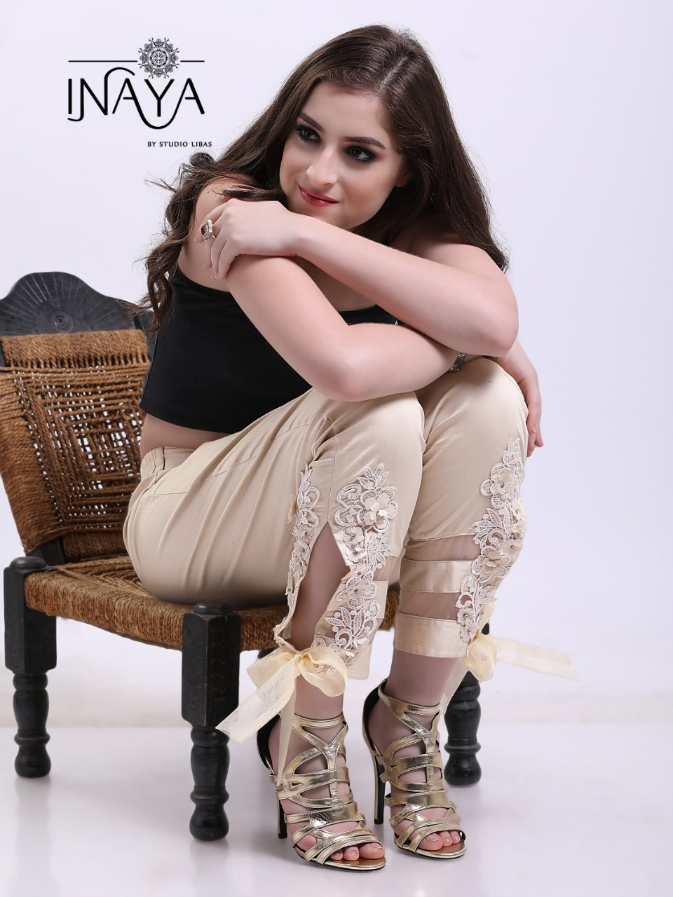 Inaya by studio libas presenting stylish cigarette pants concept