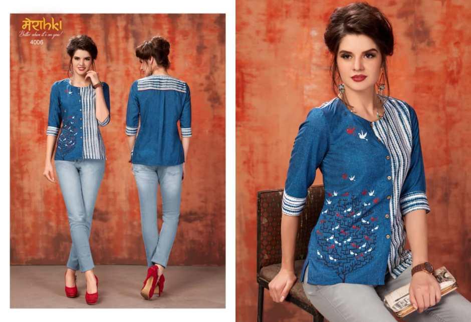 Meraki Presenting flamingo casual stylish wear top style kurta concept